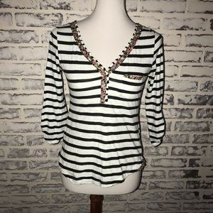 Anthropologie Postmark Top X Small XS Stripe